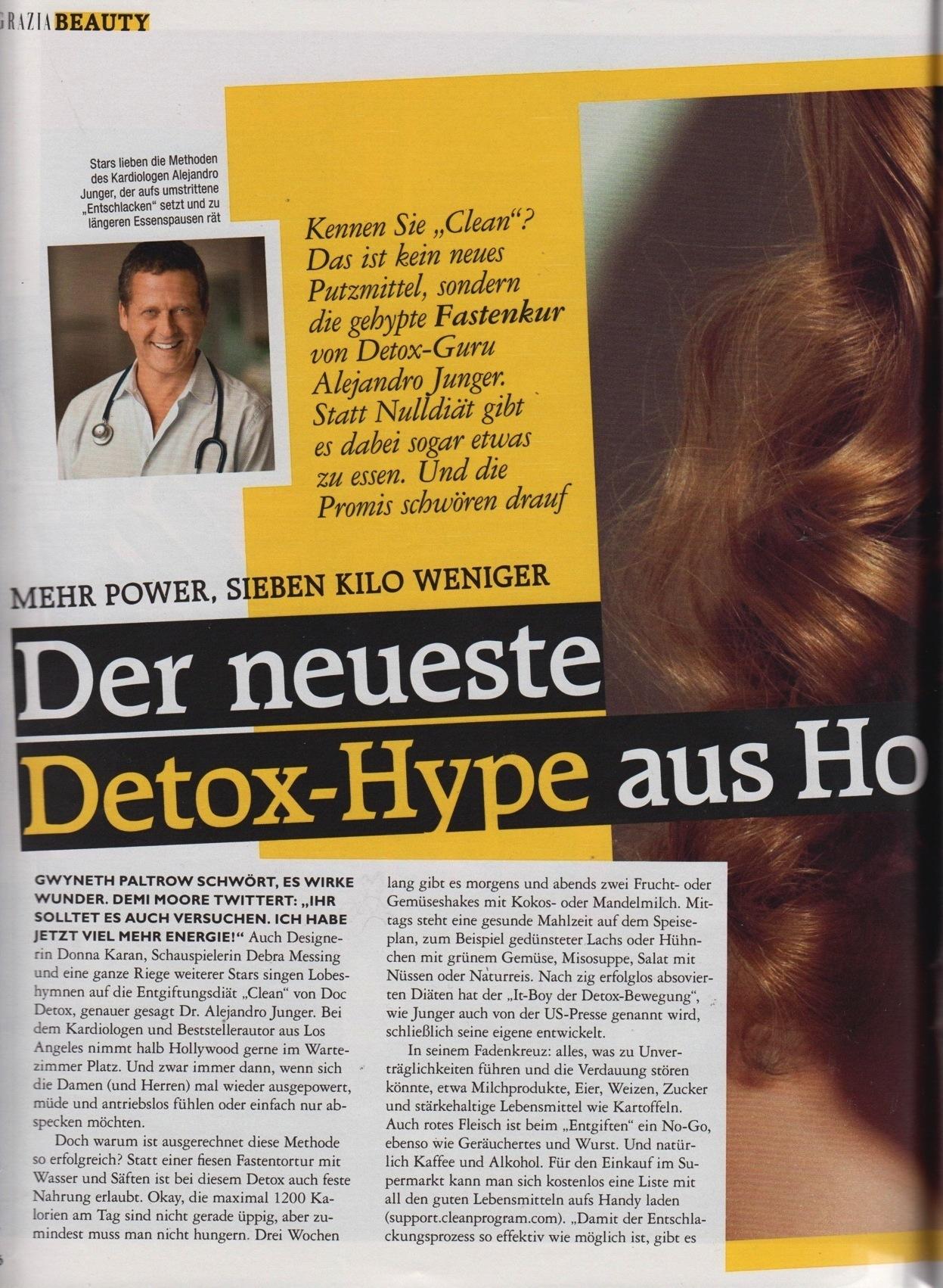 Grazia Detox Dr. Alejandro Junger