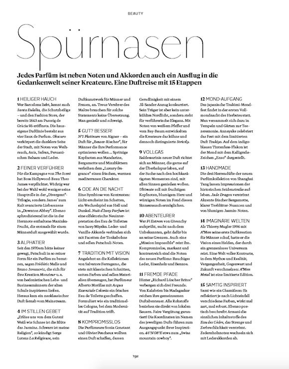 LOfficielHommes 3_2015 Herbstdüfte S.1