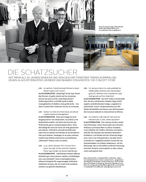 LOfficielHommes 4 2015 Interview Klaus Ritzenhöfer Apropos