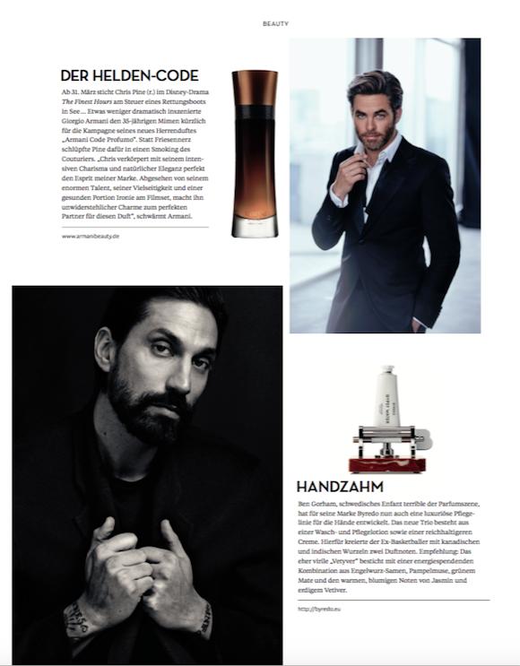 LOfficielHommes 1 2016 Beauty News S.2